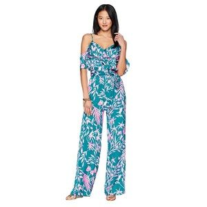 NEW Lilly Pulitzer Emilea floral leaves jumpsuit